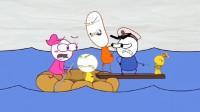 搞笑铅笔动画:美女为了心爱的玩具弄沉了一艘船,结局也是活该!