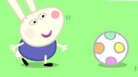 小猪佩奇:佩奇让乔治做球童,乔治捡球捡的,哇哇大哭!