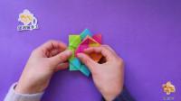 如何用折纸做旋转陀螺,转的特别快,还不伤手