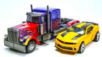 变形金刚电影3中DOTM超大型汽车人领袖擎天柱和大黄蜂机器人变形玩具