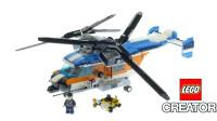 乐高创意百变三合一系列31096双螺旋桨直升机和战斗机积木