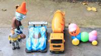 大卡车送货路上的意外车祸
