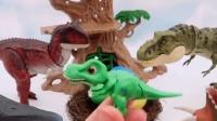 益智早教玩具故事 恐龙蛋孵化,小恐龙诞生了