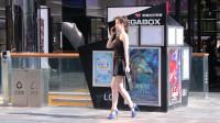 时尚美女,穿上高跟鞋,逛街走路都变得更有气质