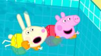 太棒了!猪妈妈怎么给小猪佩奇做一个游泳池?如何2分钟学6种色彩英语?儿童亲子益智早教画画游戏玩具