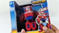 拆箱国产玩具奥特曼和超级飞侠Q版乐迪机器人套装玩具