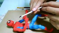 手工师用粘土捏了个蜘蛛侠,步骤很简单,看完你学会了吗?