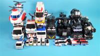 27辆黑白色迷你特工队Hello Carbot和Tobot变形金刚机甲变形玩具