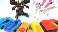 韩国变形金刚Hello Carbot磁性变形机器人机甲玩具开箱展示