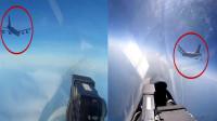 俄军战机截击美军轰炸机,一阵巨响:美军B-52轰炸机突然燃起大火