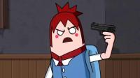 搞笑吃雞動畫:蝗蟲小隊出擊狂掃物資,菜鳥萌妹放出大招嚇壞了隊友