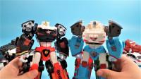韩国变形金刚Tobot迷你版和黑色版和原装版玩具展示