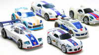 6辆变形金刚电影G2 POTP动画FOC豪华级爵士赛车机器人变形玩具