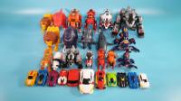 开箱展示多款托宝兄弟变形金刚和兽型机器人变形机甲玩具