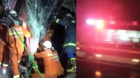 旅游大巴撞击护栏翻出高速致5死48伤 应急管理局:单方面事故