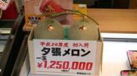 日本2颗蜜瓜,拍出500万日元天价,这是艺术品级别的瓜应有的价!