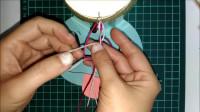 创意手工:超简单七夕情人节礼物 爱心纹路编织手环