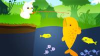 小猫钓鱼:为了钓这只鱼费尽心思,看来要买个好鱼竿了