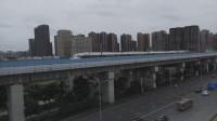 (成灌高铁)CRH6A型天府号郫县西站发车
