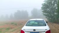 在宁夏自驾游遇到能见度只有10米的大雾,要不要冒险走?