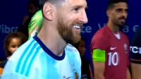 阿根廷2比0卡塔尔,阿奎罗一剑封喉,梅西生日快乐