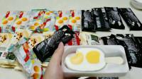 """128元爆火的""""双黄蛋雪糕"""",真有咸蛋黄吗?椰子灰吃了会变黑吗"""