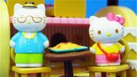 凯蒂猫Hello Kitty的蛋糕屋过家家玩具