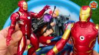 益智趣味玩具 白宝盆里蜘蛛侠、超人、美国队长好多的超级英雄呀 你最喜欢谁?