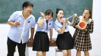 老师请学生吃西瓜,每个人只能吃一勺,吃货女同学直接拿个超大勺