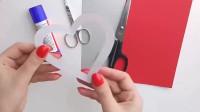 「创意手工DIY」红心贺卡的制作方法,难度1颗星,非常简单