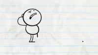 搞笑铅笔动画:今天不适合出门,一颗小石子让小笨蛋连摔了好几回!