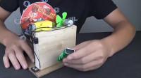 「创意手工系列」全自动吹泡泡机的制作方法,孩子们都抢着玩!