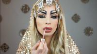 国外时尚美妆,小姐姐埃及公主仿妆,华丽大气尊贵无比,好惊艳!