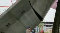 傻眼!郑州北四环在建高架突然坍塌 原本预计6天后通车