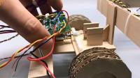 「创意纸板DIY」可以自动装卸的玩具卡车,制作起来很简单!