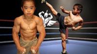 日本8岁男孩模仿李小龙,每天进行高强度训练,练就一身肌肉