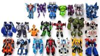 变形金刚Robots伪装擎天柱大黄蜂横炮铁腕等21个机器人变形玩具