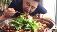 """超小厨花40元做""""毛血旺""""鳝鱼毛肚加配菜,夫妻两人吃一锅,爽"""