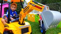 萌娃小可爱:哥哥,我出去的道路被堵住了,快开你的挖掘机来帮帮我吧!