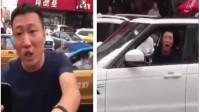 路虎男司机违停,交警劝离不听,边拍视频威胁边辱骂交警,结果自己被刑拘!