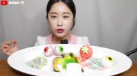 宅女体验最新款软糖棉花糖的咀嚼音吃播篇v