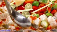 【Chen, ASMR】酸芒果生虾沙拉