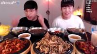 【大胃王吃播】韩国小哥特色美食与冷面吃播!