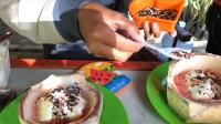 这样做出来的印尼椰子小吃你见过吗?放上你最爱的果冻,太诱人了