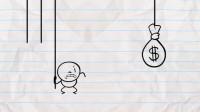 搞笑铅笔动画:富贵险中求!拉对绳子拿到财富,拉错绳子去喂鳄鱼!
