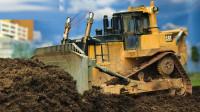 大大推土机挖掘机玩具运输沙土