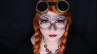 国外时尚美妆,小姐姐万圣节蒸汽朋克妆,性感迷人 科技感满满!