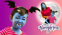 亲子互动美妆:化妆打扮成的吸血鬼母女俩你认识吗?