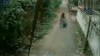 诡异事件:女生回家, 感觉不对劲想跑, 监控拍下绝望全过程