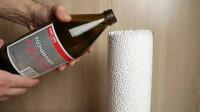 酒精倒入装有泡沫的杯子中,泡沫消失了,这是什么原理?
